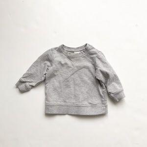 H&M gray sweatshirt EUC 4-6 months